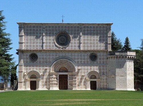 Basilica of Santa Maria di Collemaggio, L'Aquila, Abruzzo, Italy