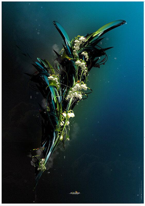 Кибер цветок