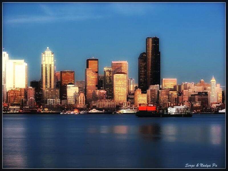 Вечерний Сиэтл