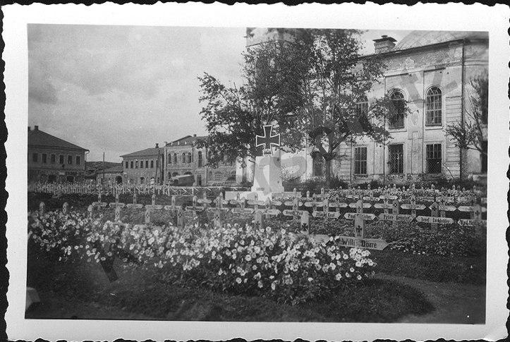 Немецкое кладбище в городе Жиздра у собора Александра Невского