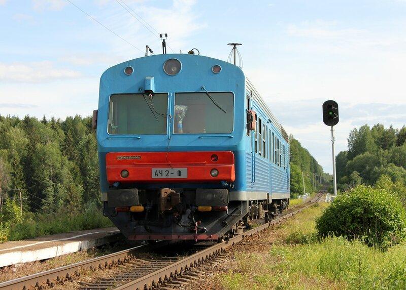 АЧ2-111 у платформы 168 км, перегон Осуга - Сычёвка, Московская ЖД