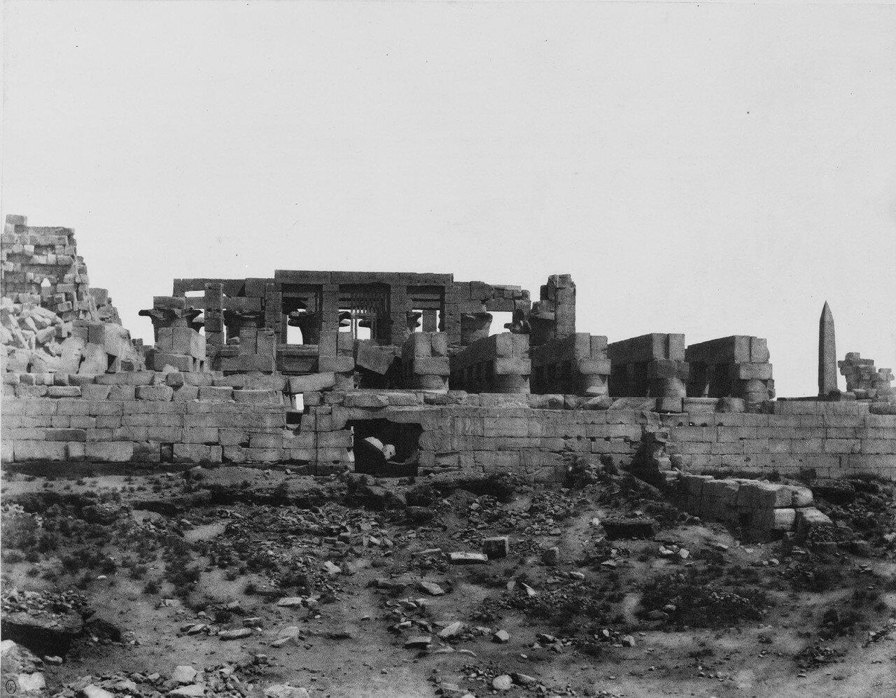 Карнак (Фивы). Стены храма. 1858