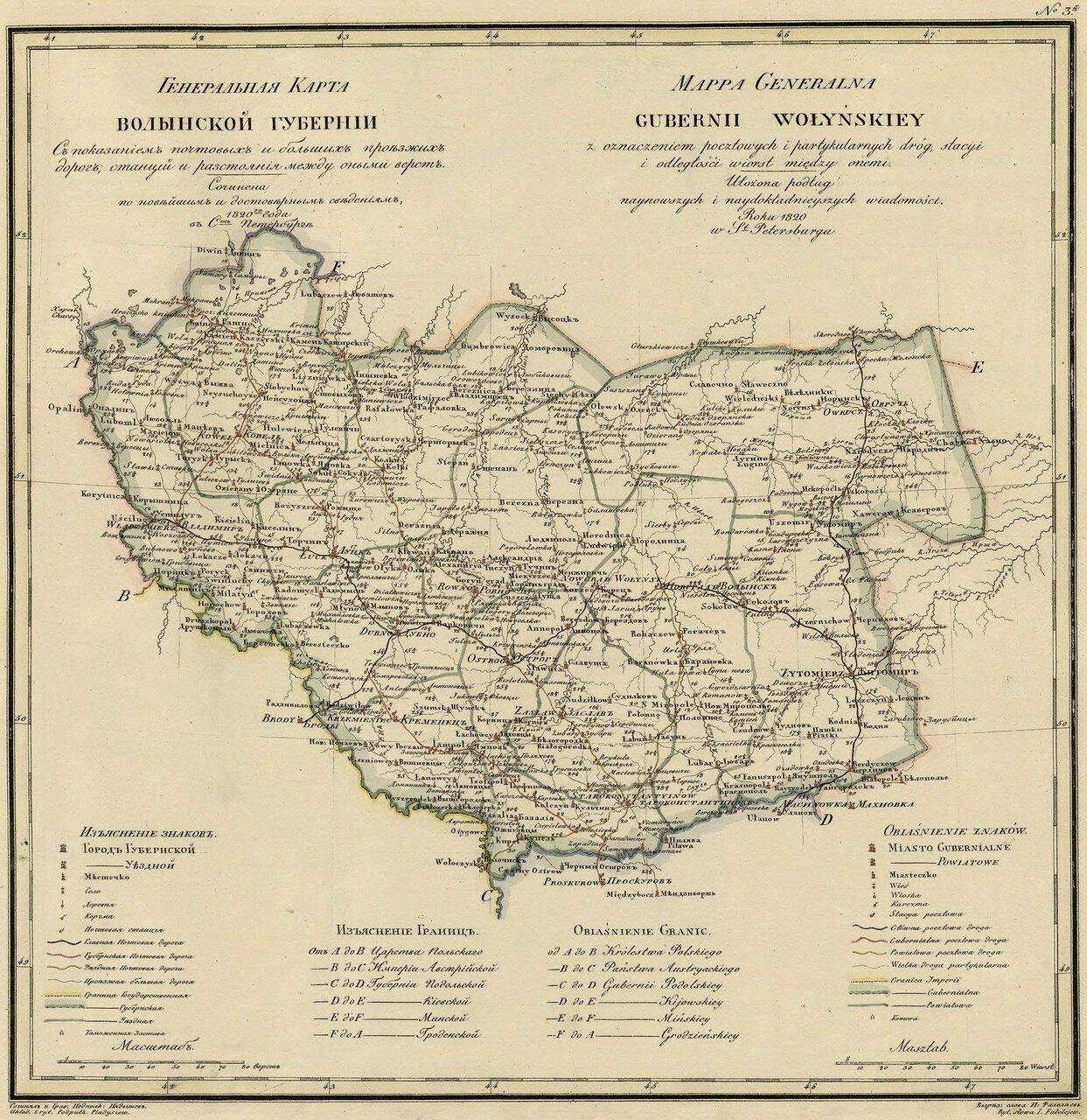 03. Волынская губерния. 1820
