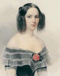 В.Гау. Портрет Натальи Николаевны Ланской 1844 г.