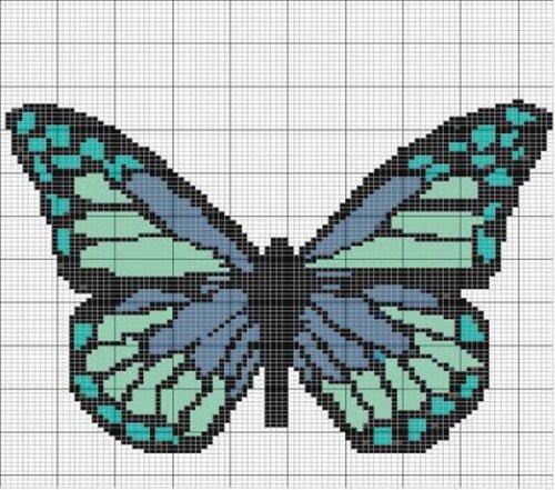 бабочка схема бисер, а так же