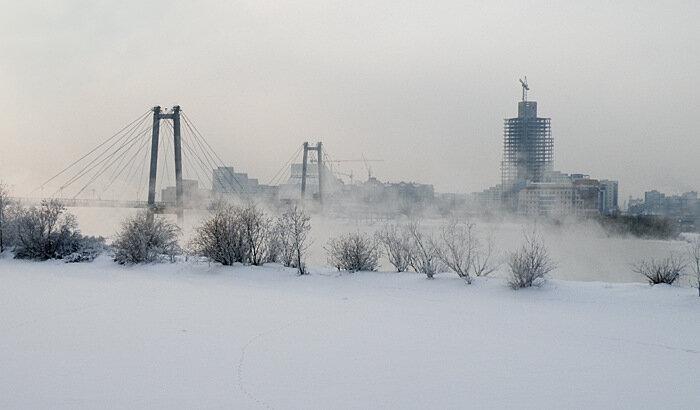 Вид на город с острова Татышева