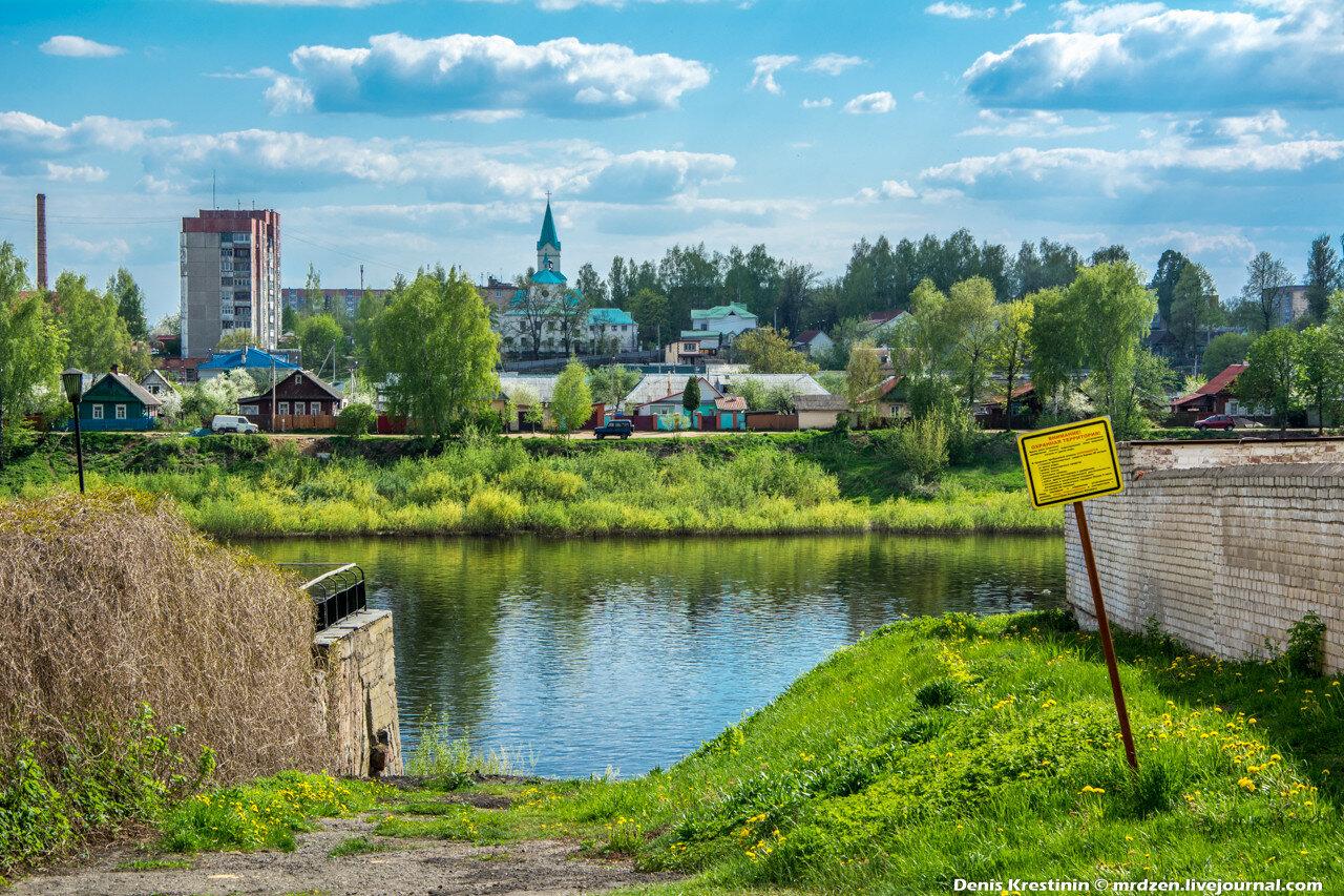 Полоцк. Набережная реки Западная Двина