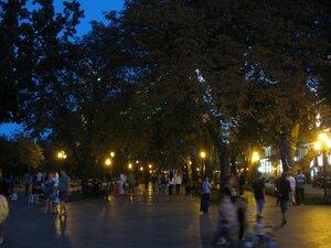 Иллюминация на Приморском бульваре в Одессе