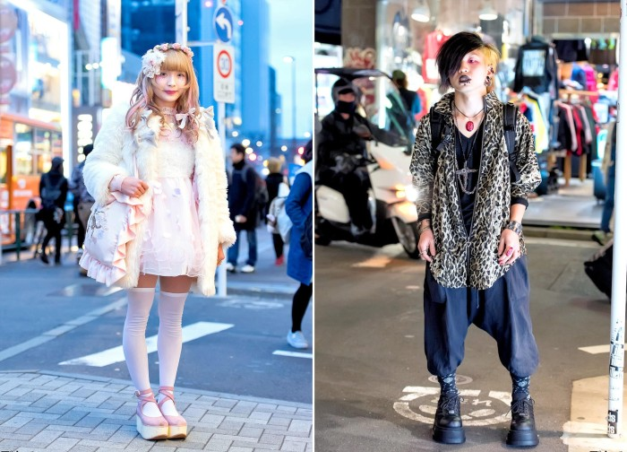 Модные персонажи на улицах Токио (32 фото)
