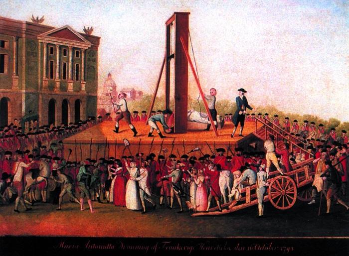 Первая публичная казнь гильотиной произошла 25 апреля 1792 года. Толпа зевак была очень разочарована