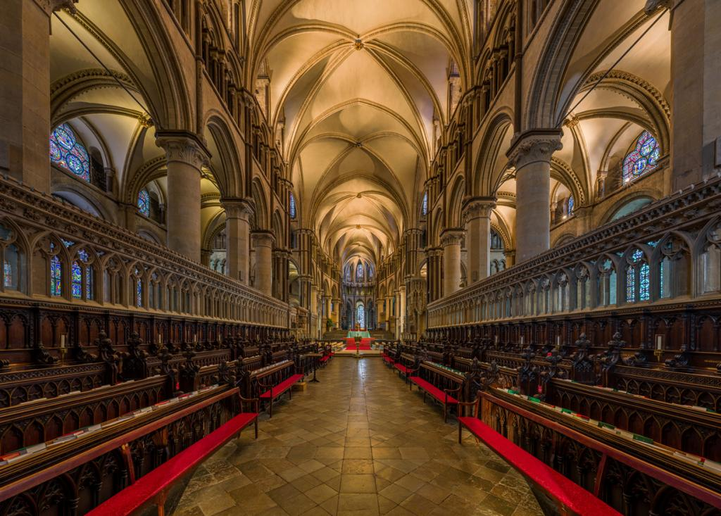 Кентерберийский собор. Архитектурный стиль — романская архитектура/английская готика. (David Ili