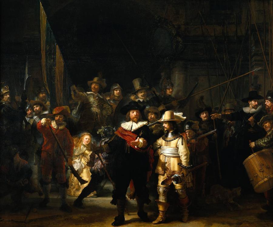 8. «Ночной дозор» Эта картина Рембрандта «Выступление стрелковой роты капитана Франса Баннинга Кока