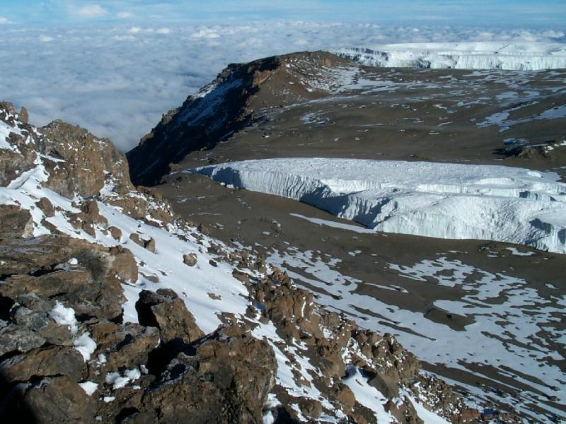 Самые красивые крупнейшие ледники мира: Фуртвенглер, Танзания