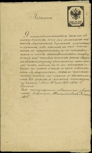 1873. Актовая бумага.