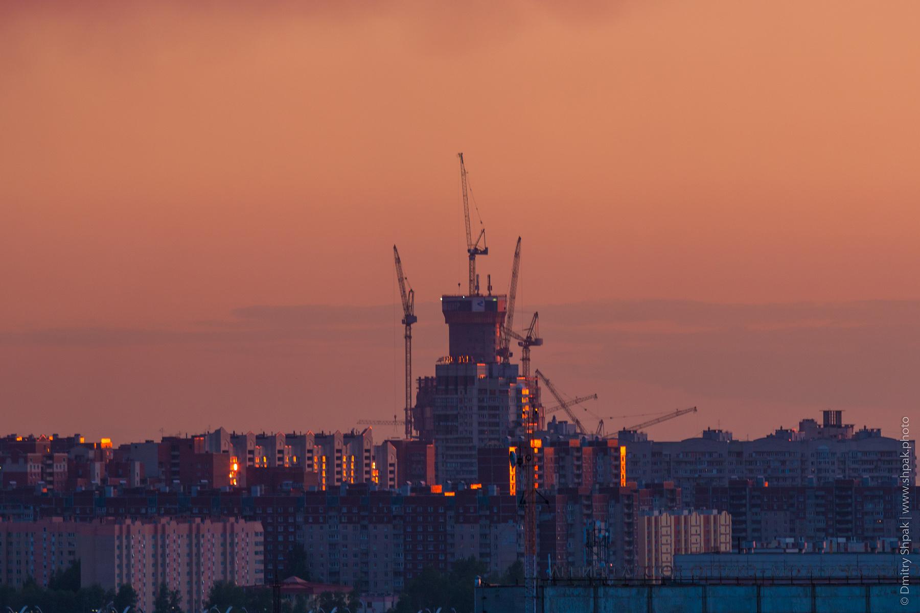 Строящийся Лахта-центр