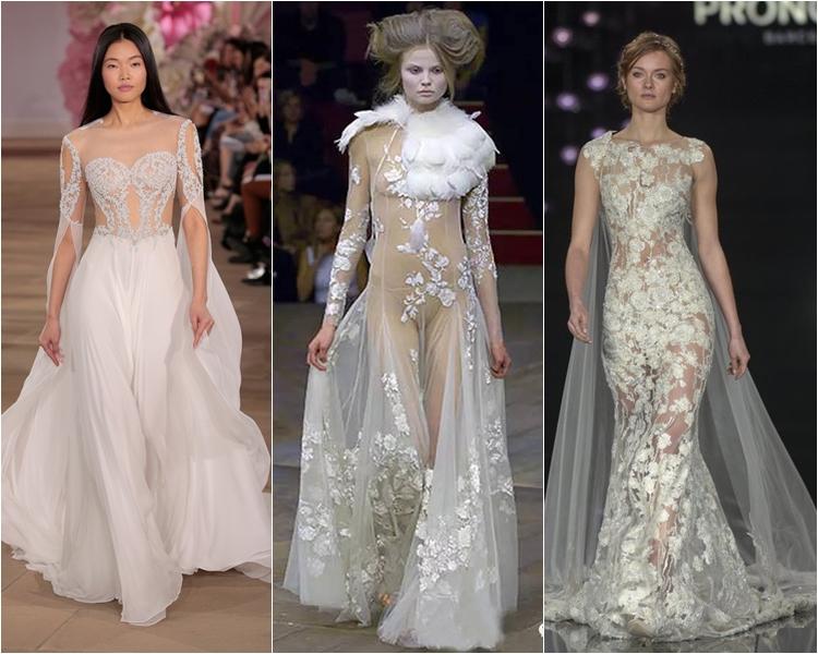 Модные свадебные платья весна-2017: смелые прозрачные