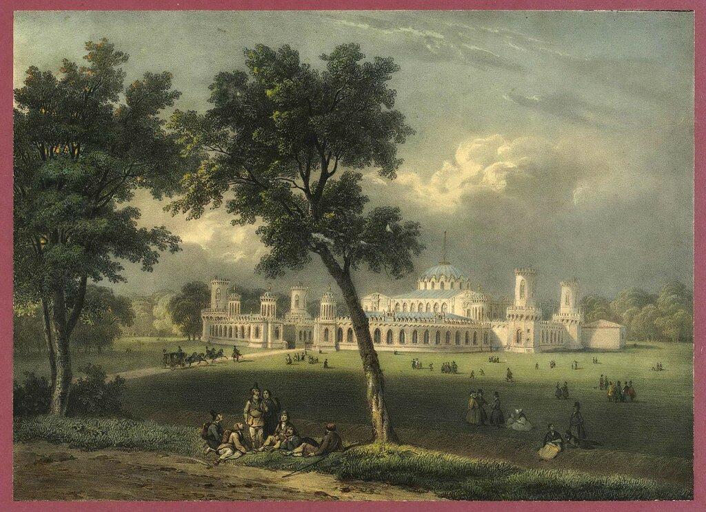 457764 Вид Петровского дворца в Москве кон. 1840-х Адам Жан Виктор.jpg