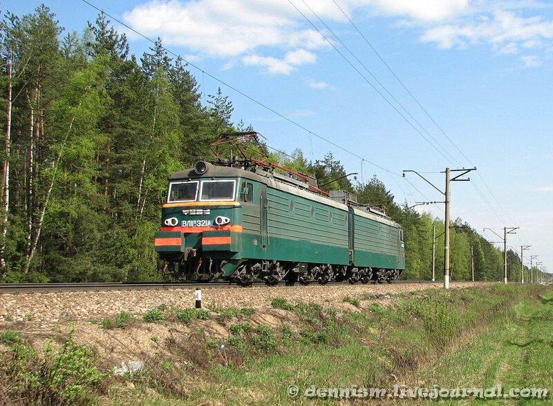 Электровоз ВЛ11М-321, перегон Чкаловская - Монино
