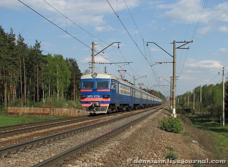 Электропоезд ЭР2-1176, перегон Монино - Чкаловская
