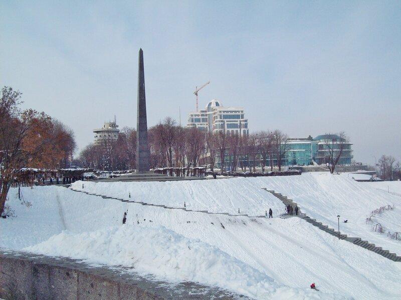 Парк Славы зимой