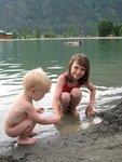 На искусственном озере