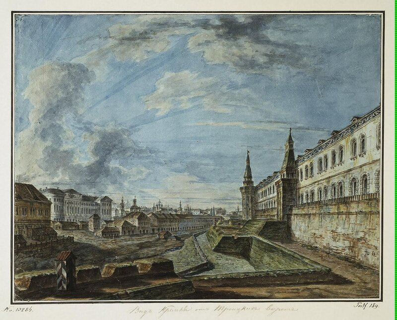 Alexeyev Fiodor - View of Moscow from the Trinity Gates in the Kremlin (View of Moscow University) - JRR-6527