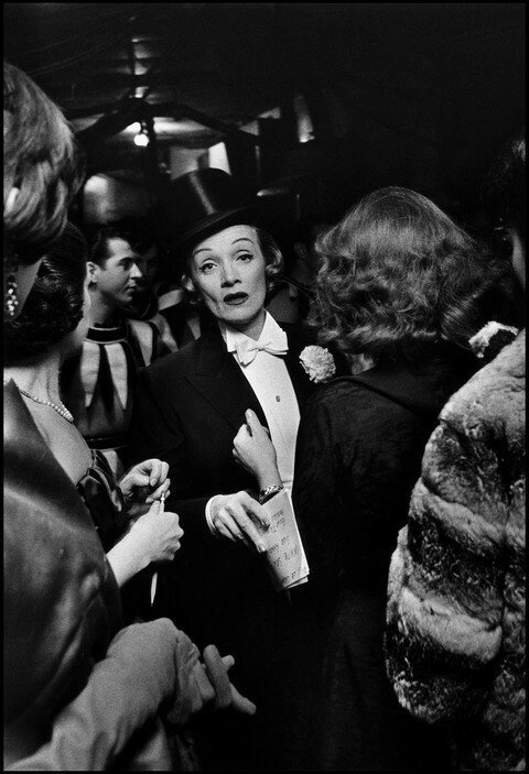 USA. New York, New York. 1959. Marlene DIETRICH at the April in Paris Ball at the Waldorf Astoria Hote.jpg