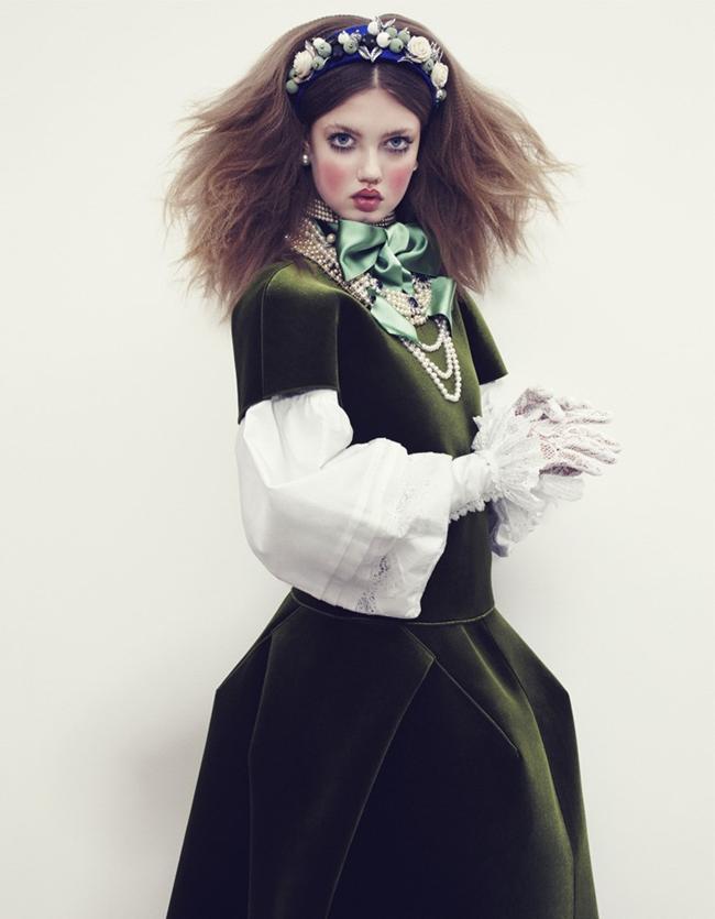 Модель Lindsey Wixson в фотосессии The Anastasia of Winter