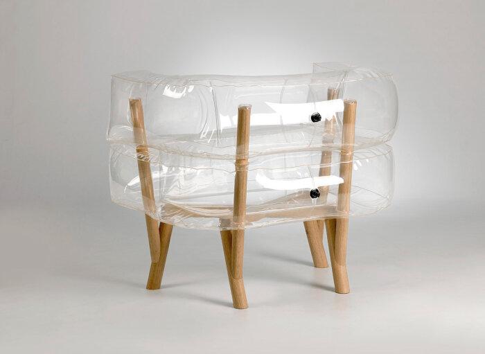 Прозрачный стул с членом 5 фотография