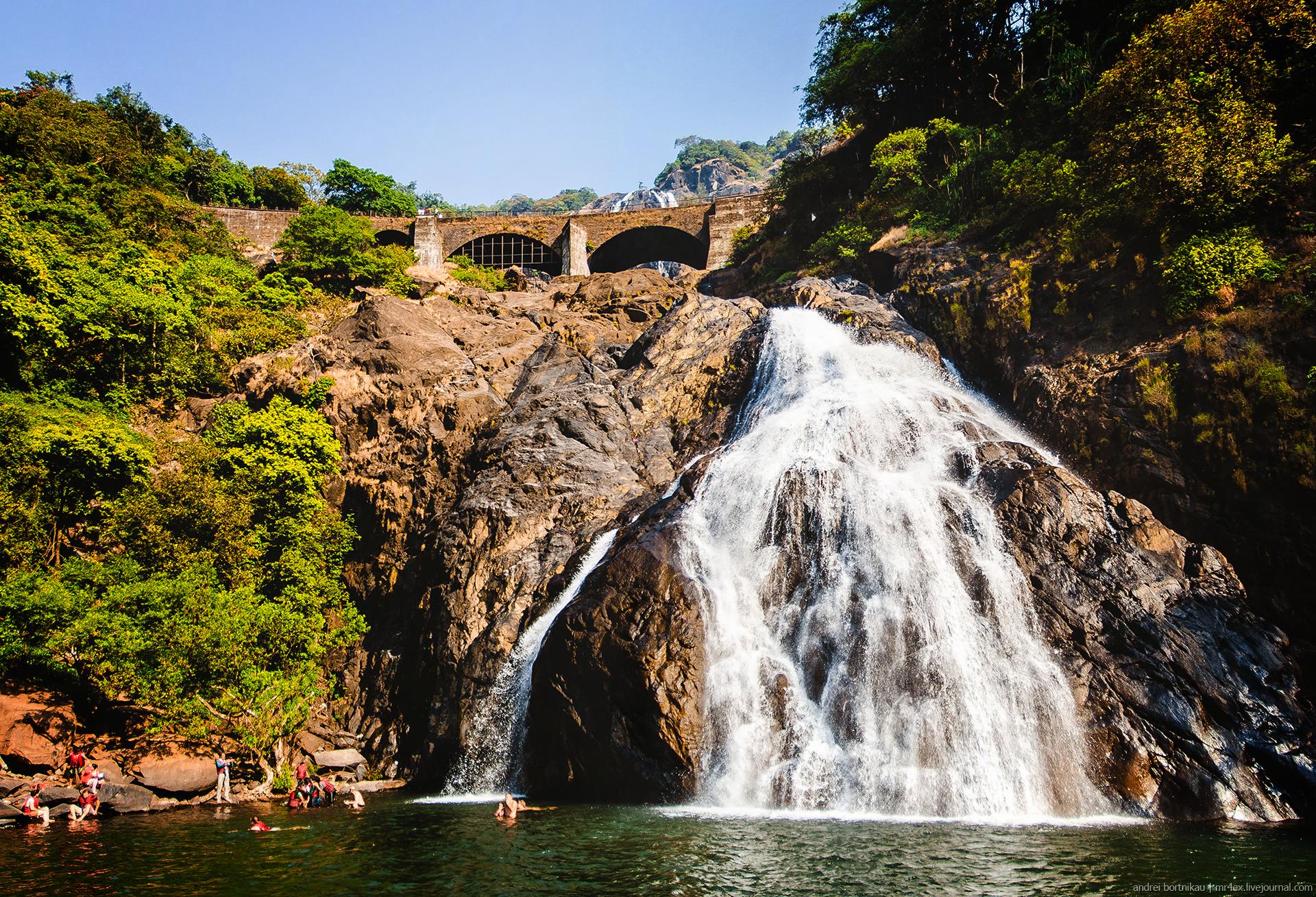 Водопад Дудхсагар, Гоа, Индия, Dudhsagar falls