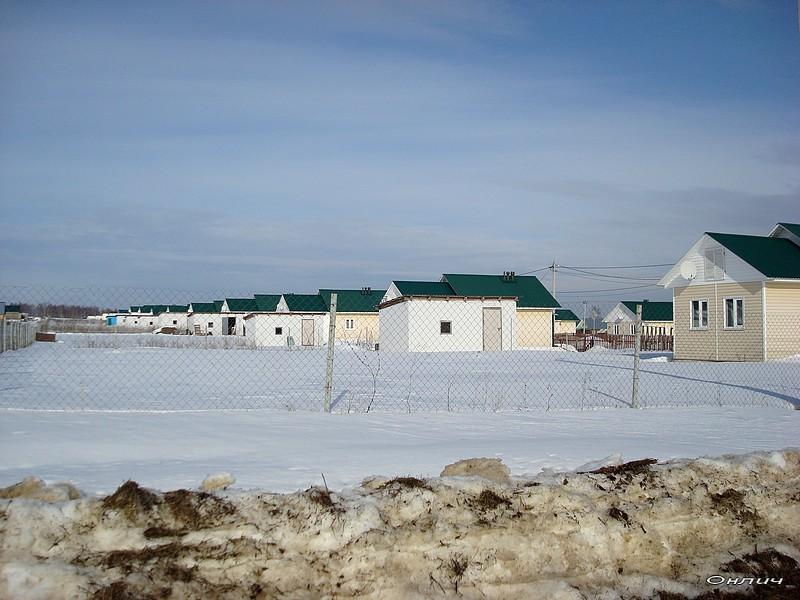 Как выглядит путинский поселок зимой