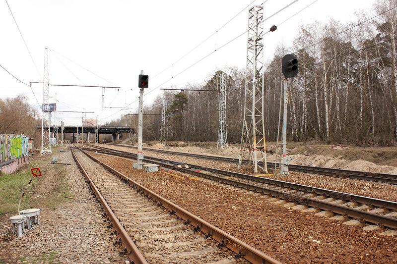 Маневровые светофоры станции Подмосковная около пл Покровское-Стрешнево