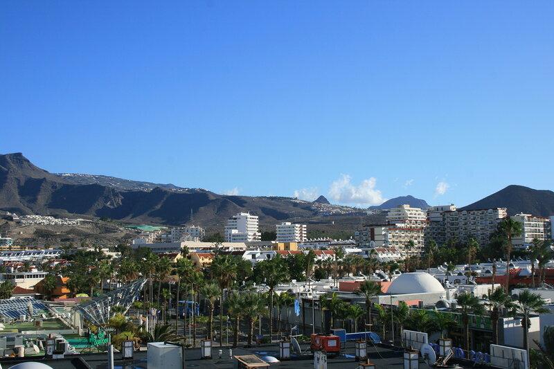 Вид на Лас Америкас из Парка Сантьяго 2