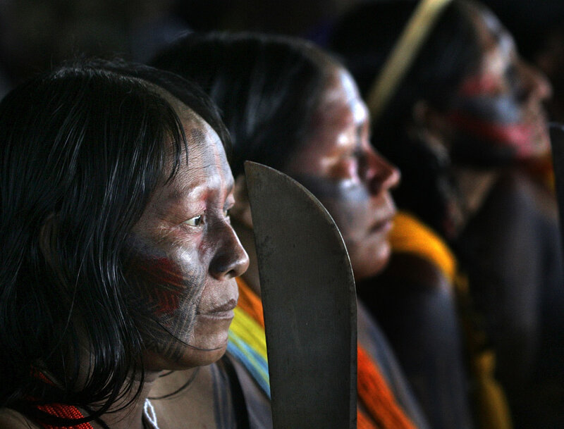 Indigenous Brazilians Protest