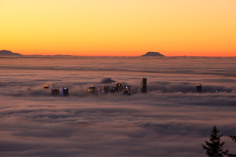 ванкувер в тумане