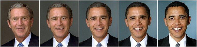 Джордж Буш Барак Обама