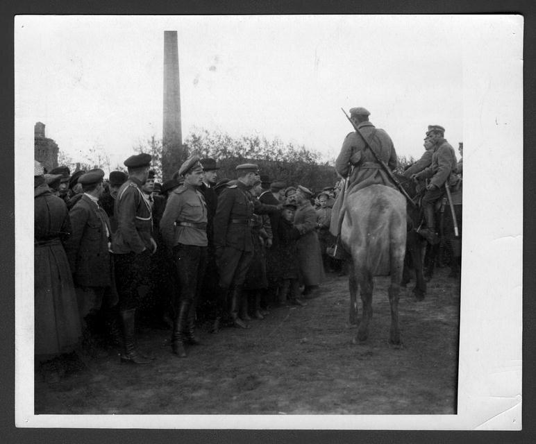 Смотр белогвардейских войск в Томске 22 сентября 1918 года