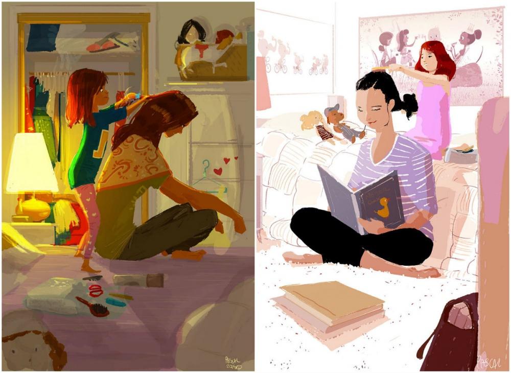 16иллюстраций, посвященных любимым мамам