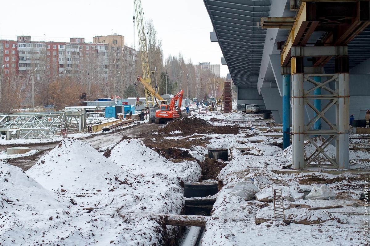 Мостовой переход через судоходный канал в Балаково 13