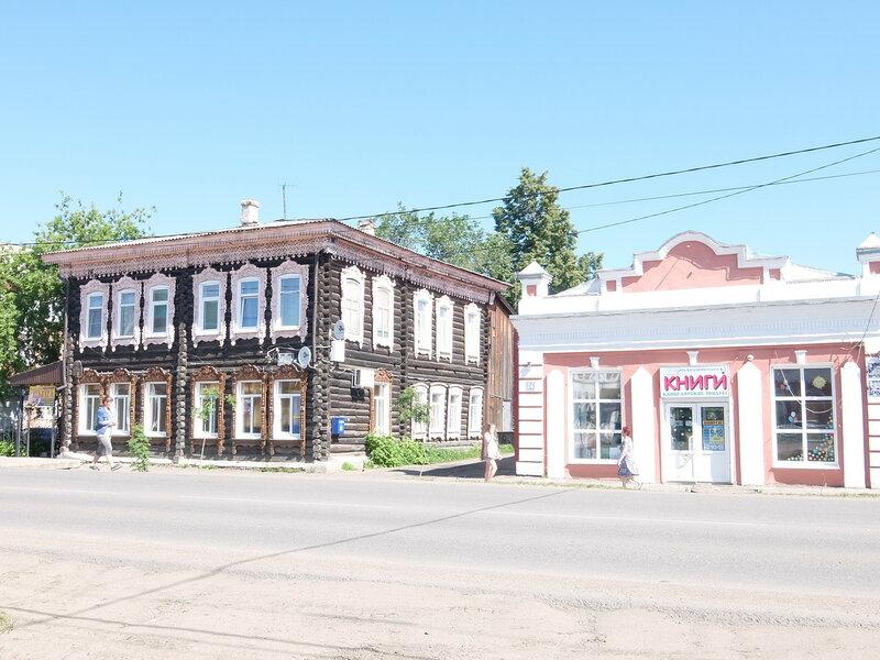 Мариинск - Здания на улице Ленина