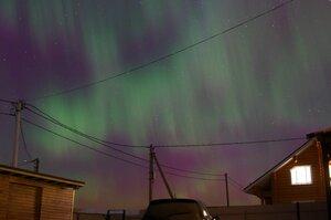 Северное сияние Вологда 17.03.2015