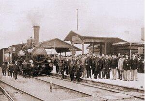 Встреча первого поезда на ст. Егорьевск. 1869