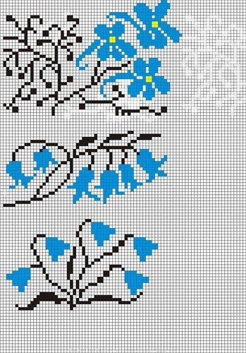 Вышивка для платочков схемы