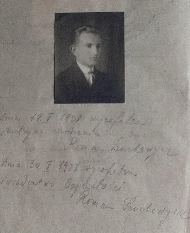 З особової справи студента Львівської Політехніки Романа Шухевича з його автографом 2