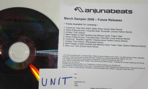 Anjunabeats March Sampler Future Releases (Promo C ...