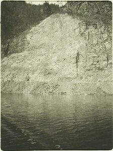 Вид участка Кругобайкальской железной дороги во время тоннельных работ. Забайкальская обл., между ст. Шарыжалгай-Култук