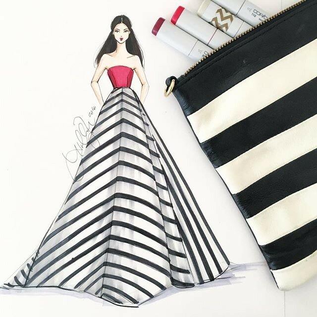 Как нарисовать выпускное платье