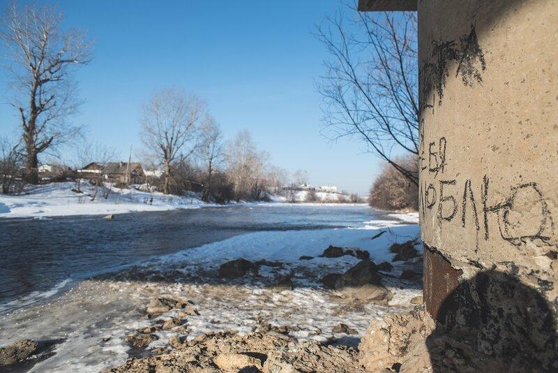 bridge, dam, ice, icicles, nature, river, snow, spring, steam, stream, sun, thaw, water, весна, вода, дамба, лед, льдинки, лёд, мост, оттепель, пар, плотина, природа, река, речка, снег, солнце