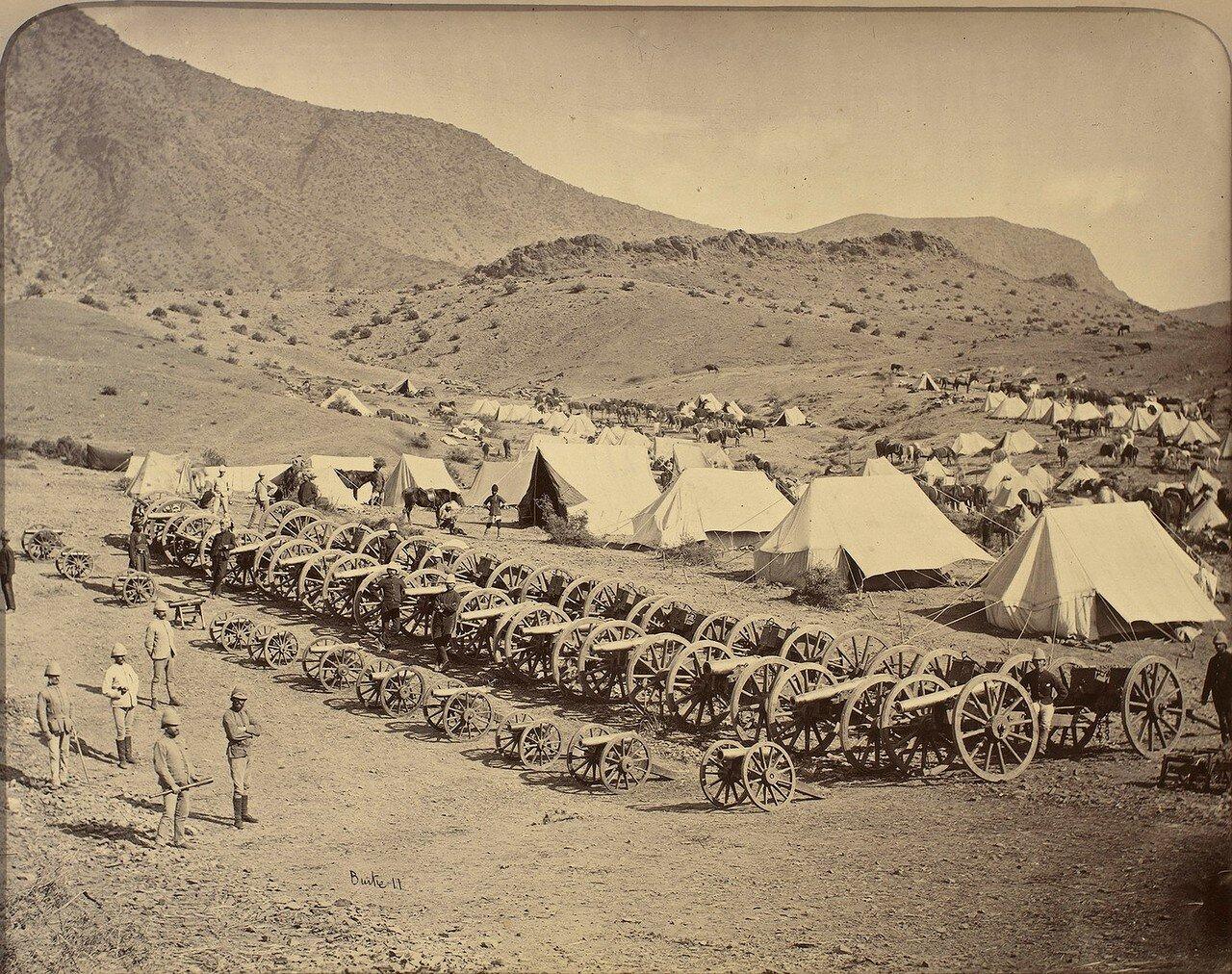 31. Артиллерийские орудия, захваченные британскими войсками в битве у Али Масджида
