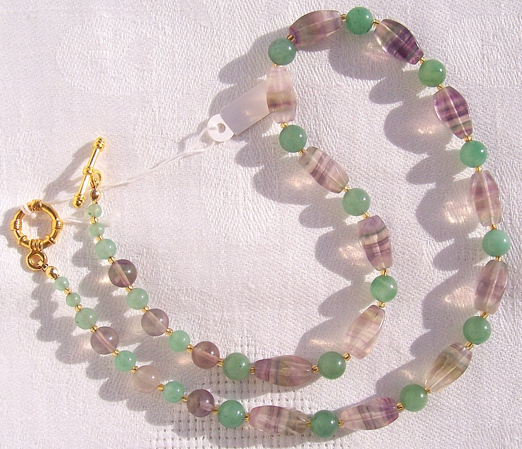 fluorite,aventurine,citrine,necklace